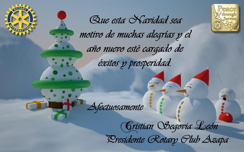 Saludo de Navidad Rotary
