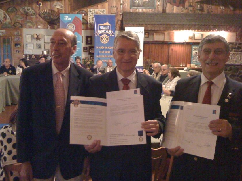 PGD Miguel Tapia, EGD 4420 Fernando Sobrinho y GD Jorge Vega