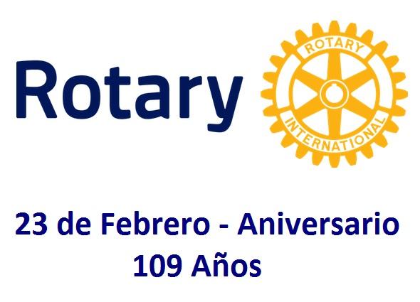 Feliz Aniversario Rotary