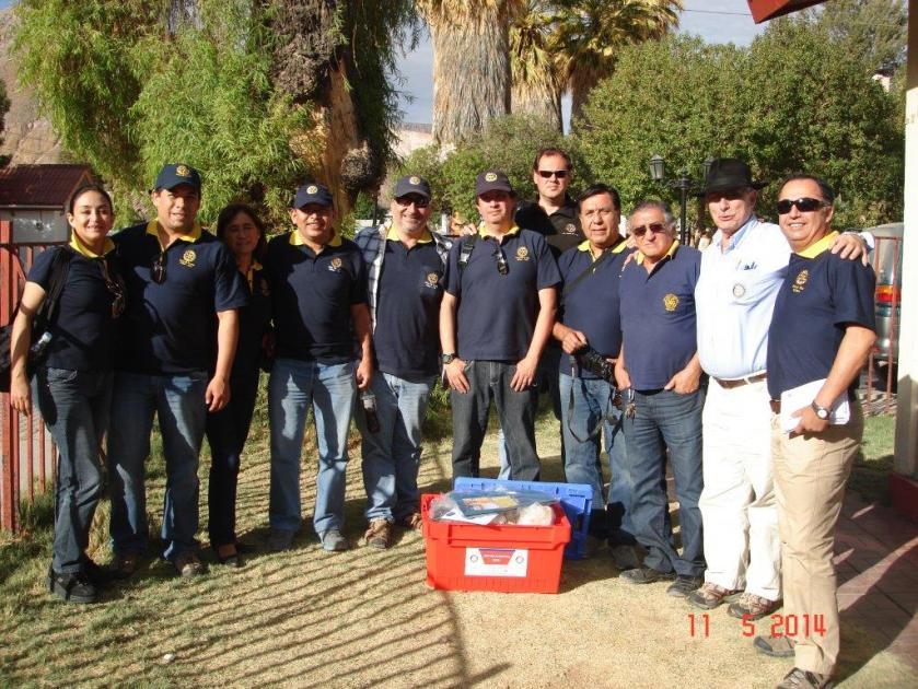 Nuestro equipo. recién llegado a Camiña. Luego de tres horas de viaje, desde Iquique, viviendo rotary cambiando vidas.