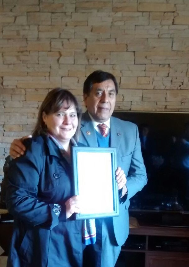 premio Realizaciones Significativas Past G Felipe Y Past Pdta Rossana Roco