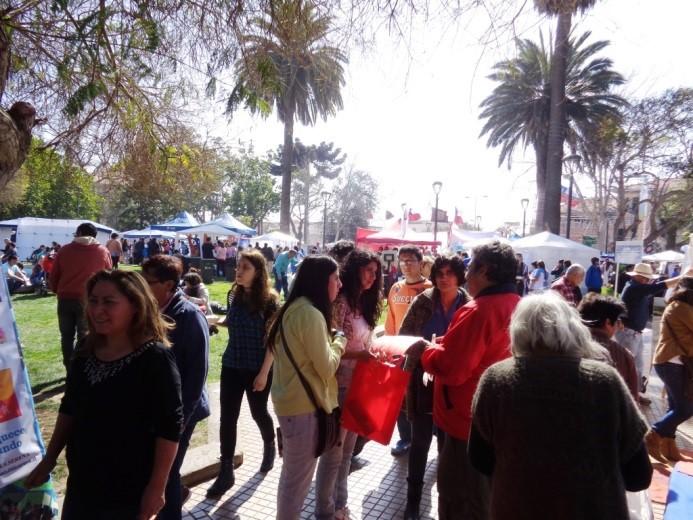 Vista general de la Plaza de La Serena. Gran afluencia de público
