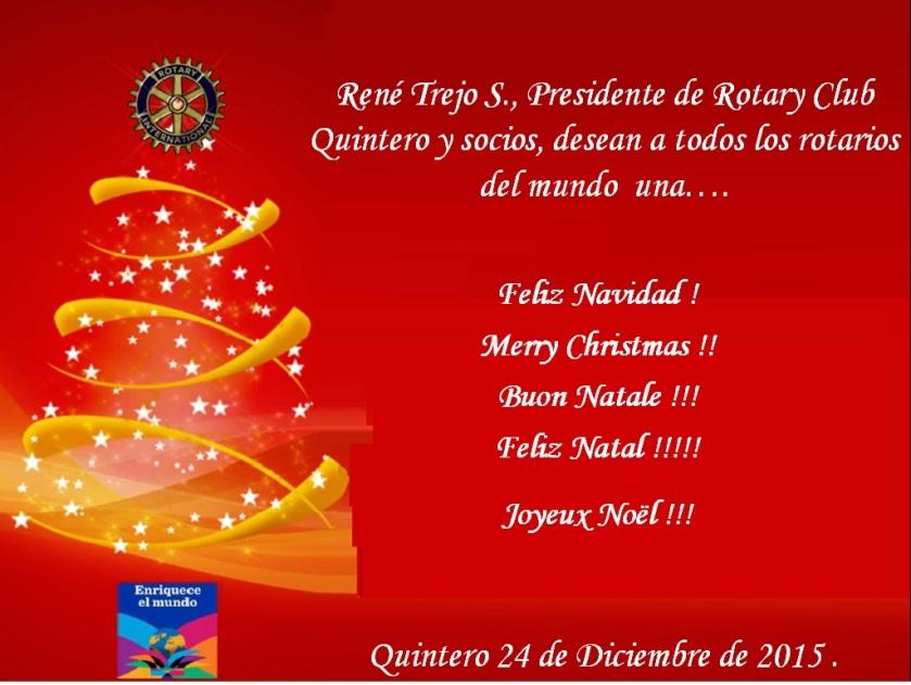 Tarjeta de Navidad 2015, Quintero