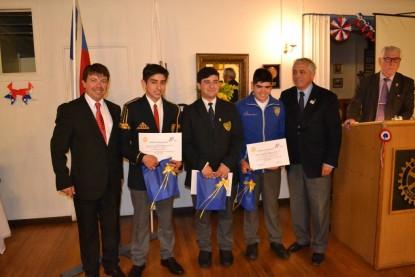 Alejandro Godoy, Isaí Estay, Cristóbal Vargas, Héctor Ortiz, Roberto Ravest