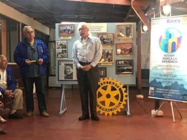 Alcalde, Don Patricio Aliaga, socio Honorario, entrega su mensaje