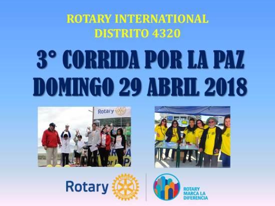 3 CORRIDA POR LA PAZ DISTRITO 4320 ROTARY INTERNATIONAL