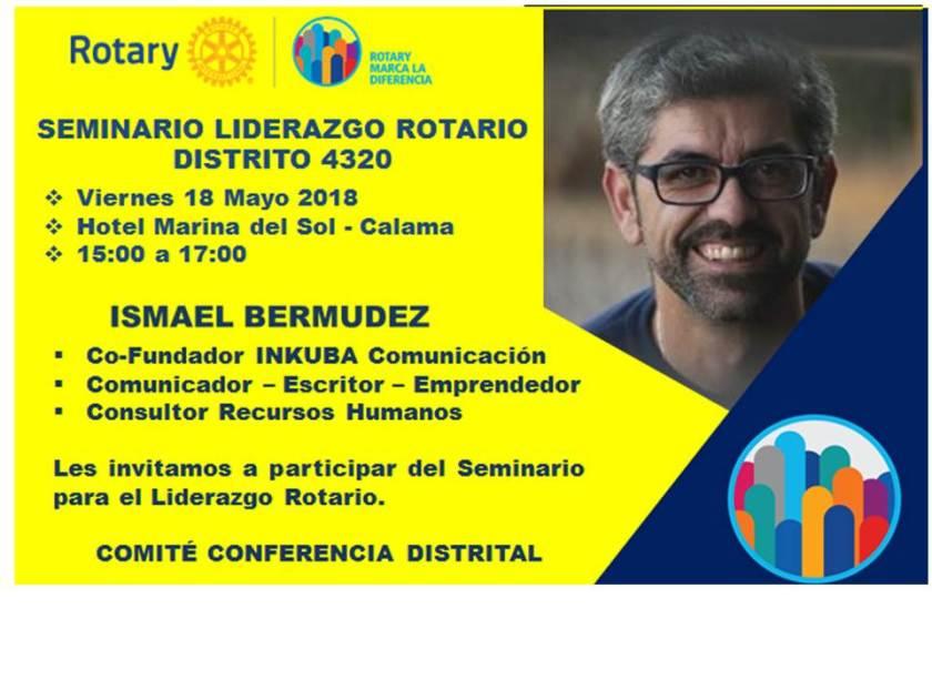 INVITACION SEMINARIO LIDERAZGO ROTARIO - CONFERENCIA DISTRITO