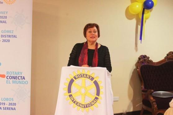 Primer discurso de Presidenta Aurea Rojas Lobos.