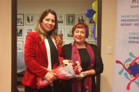 Aurea Rojas Lobos, Presidenta RC La Serena junto a Sra. Alejandra Valdovinos Jofré, Seremi de Justicia y DDHH, en representación de la Srta. Lucía Pinto, Intendenta IV Región