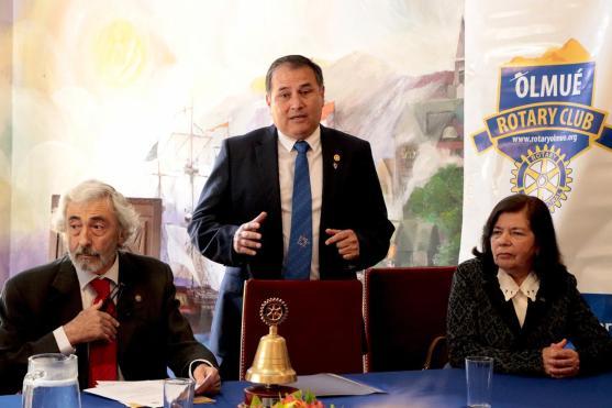 Presidente RC Olmué Ivan Dragicevic, Presidente RC Iquique Jorge Soto y Socia RC Limache Norma Osorio