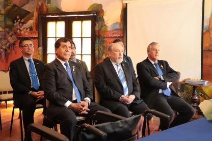 Horacio Andrade, EGD Felipe Platero, Ricardo Roman y Osvaldo Carpinello,