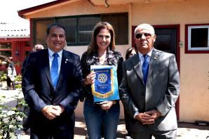 Presidente RC Iquique Jorge Soto, Alcaldesa Olmué Macarena Santelices y Daniel Naranjo,
