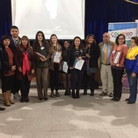 """Ganadores Concurso Spelling Bee"""" y """"Public Speaking – 9º Versión - 2019 y Autoridades Rotarias y Publicas asistentes al evento."""