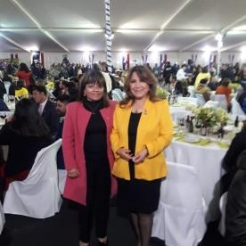 Mónica Álvarez Cortes Presidente Rotary Club de Coquimbo 2019-2020, Margarita General Torrejón – Vice Presidenta Rotary Club de Coquimbo 2020-2021