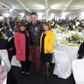 Mónica Álvarez Cortes Presidente Rotary Club de Coquimbo 2019-2020, José Correa Ramos Past President, Margarita General Torrejón – Vice Presidenta Rotary Club de Coquimbo 2020-2021